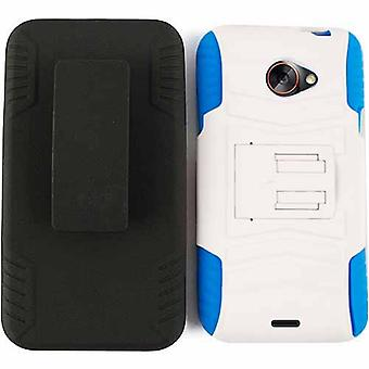 Novelty Protector Case for HTC EVO 4G LTE (White Snap/Black Holster)