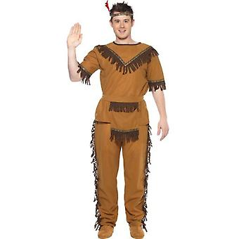 Smiffys Native American Inspired Brave Costume Brown  (Costumes)