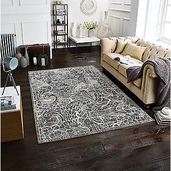 Chloe 506 E grått rektangel tepper moderne tepper