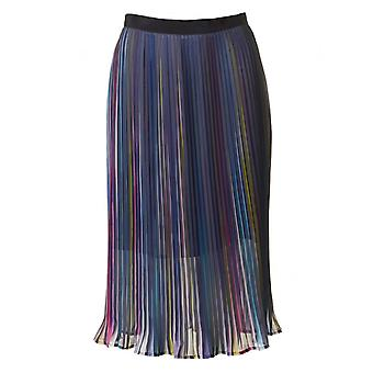 Little White Lies Colette Rainbow Pleated Mid Skirt