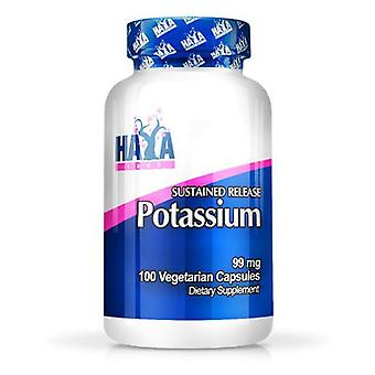 Haya Labs Sustained Release Potassium 99mg. 100 V Capsules (Sport , Minerals)