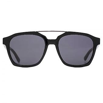 Karl Lagerfeld Metal Bridge Square Sunglasses In Black