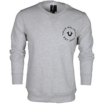 True Religion Long Sleeve Round Neck Grey Sweatshirt