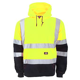 Dickies Mens Hi Vis Two Tone Hooded Sweatshirt