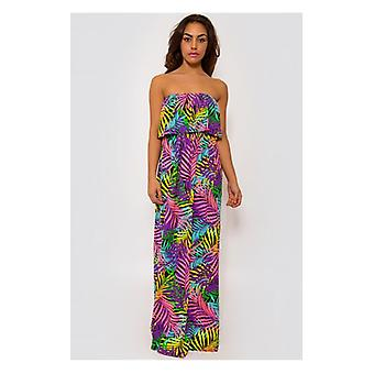 The Fashion Bible Tropical Print Maxi Dress