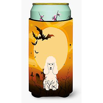Halloween Poodle White Tall Boy Beverage Insulator Hugger