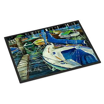 Night on the Docks Sailboat Indoor or Outdoor Mat 18x27