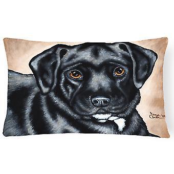 Black Bart the Labrador Fabric Decorative Pillow