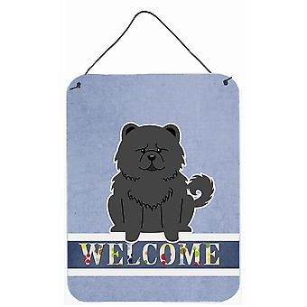 Chow Chow Black Welcome Wall or Door Hanging Prints