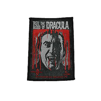 Hammer Horror Dracula Taste The Blood Woven Patch