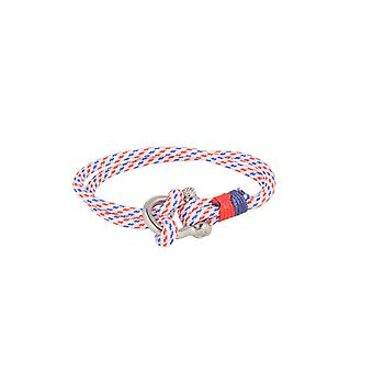 Baxter jewelry London bracelet nylon white blue red jewelry sporty Cap 21.5 cm