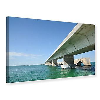 Canvas Print Seven Mile Bridge