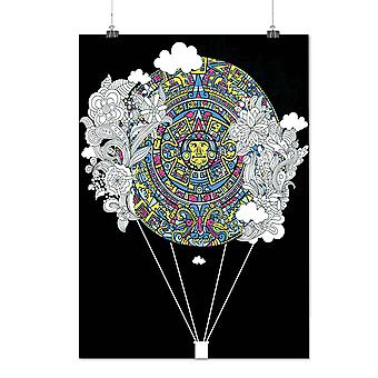 Matte or Glossy Poster with Aztec Ornament Vintage | Wellcoda | *d1290