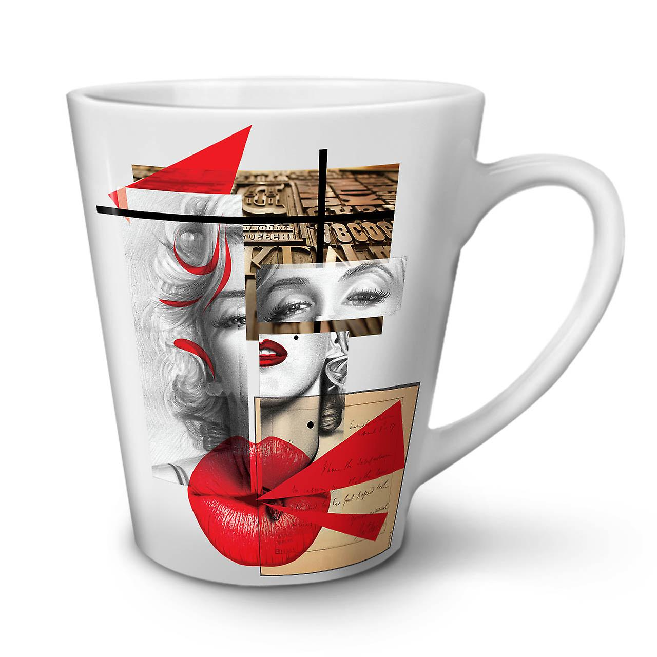 OzWellcoda Nouvelle Latte Céramique Blanche Tasse Célébrité 12 En Café TK13clFJ