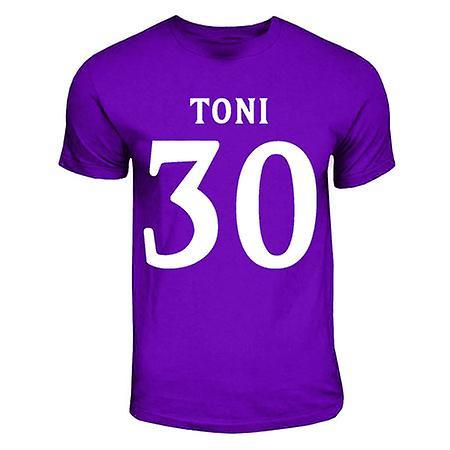 Luca Toni Fiorentina-Held-T-Shirt (lila)