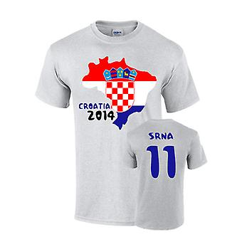 Kroatien 2014 land flagga T-shirt (srna 11)