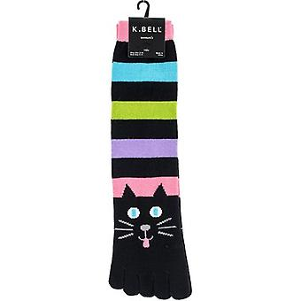 Novelty Crew Toe Socks-Cat Stripe TOE SOCK-7Z033