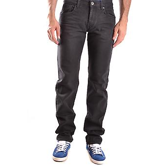 Bikkembergs men's MCBI042085O black cotton of jeans