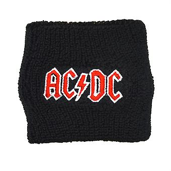 AC/DC Red Logo Embroidered Wrist Sweatband
