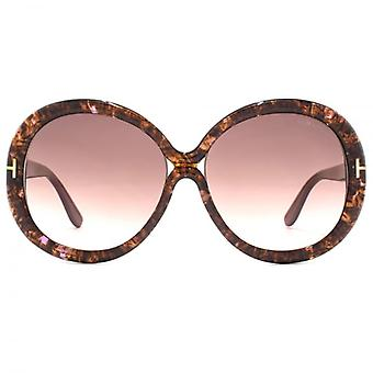 Tom Ford Gisella Sunglasses In Brown Violet Marble
