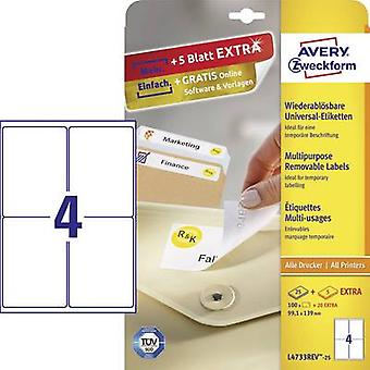 Avery-Zweckform L4733REV-25 Labels (A4) 99.1 x 139 mm Paper