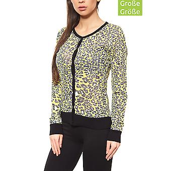 Rick cardona by heine knitted jacket ladies plus size yellow