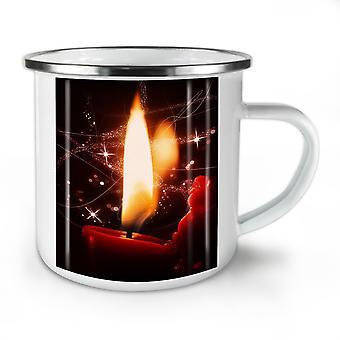 Weihnachten Kerze Natur neue WhiteTea Kaffee Emaille Mug10 oz   Wellcoda