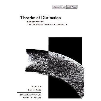 Theories of Distinction by Niklas Luhmann & William Rasch