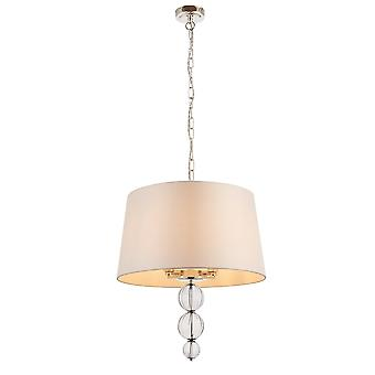 Interiors 1900 Darlaston 4 Light Ceiling Pendant In Polished Nic