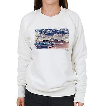 Chevrolet Corvette Stingray Convertible Desert Filter White Women's Sweatshirt