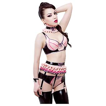 Westward Bound Pixie-Luxe Deep Latex Rubber Suspender Belt