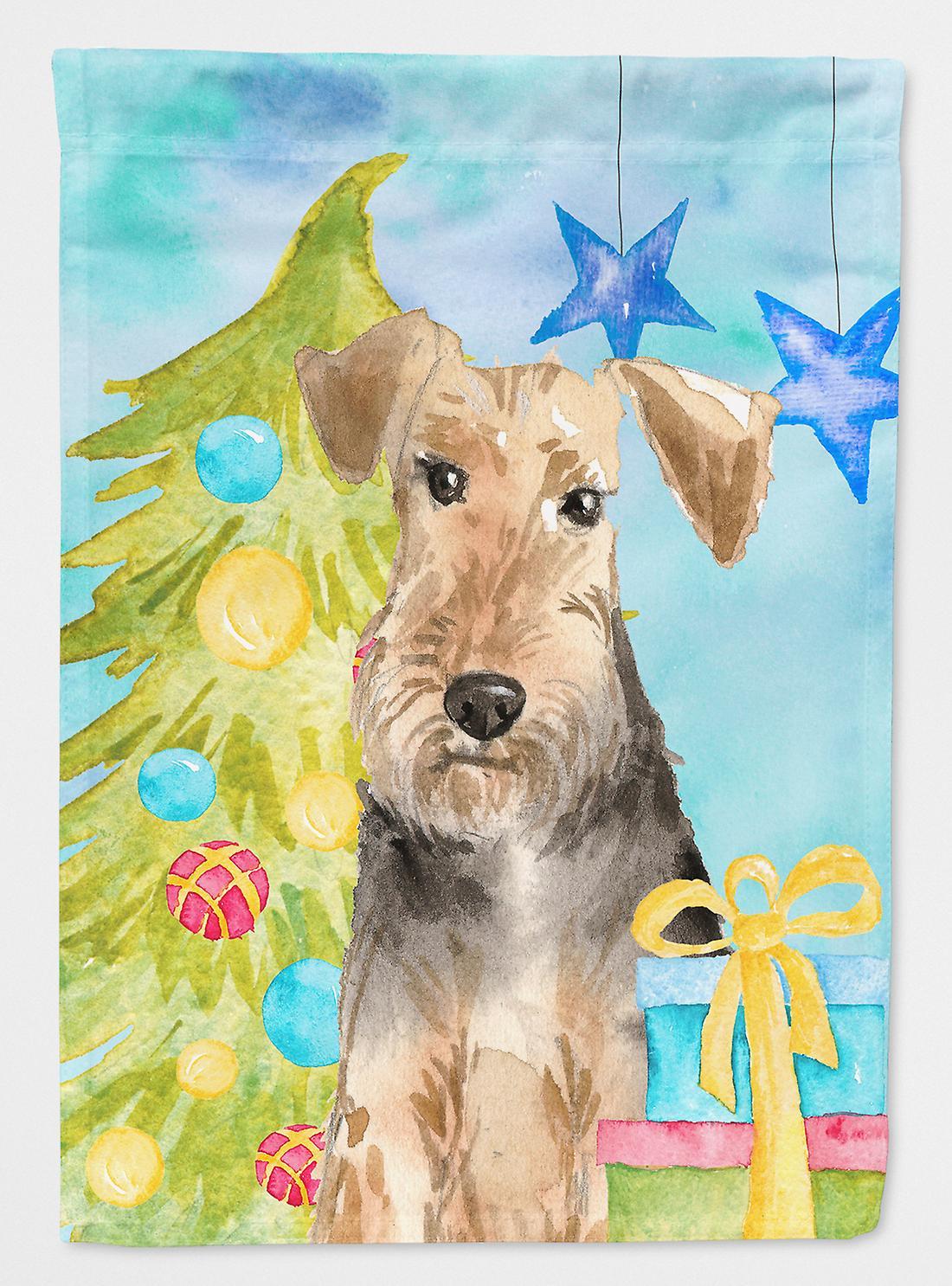 Arbre de Noël Welsh Terrier drapeau toile maison Taille