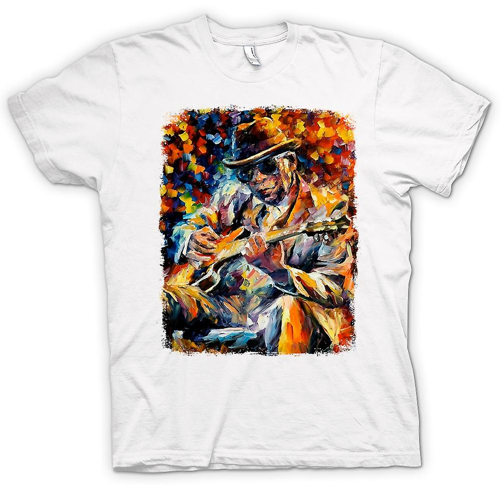 Womens T-shirt - John Lee Hooker - Blues - Oil Painting