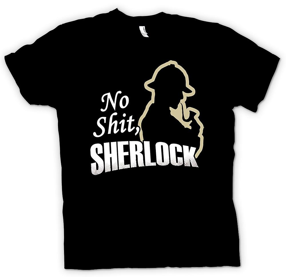 Mens T-shirt - No Shit Sherlock - Quote