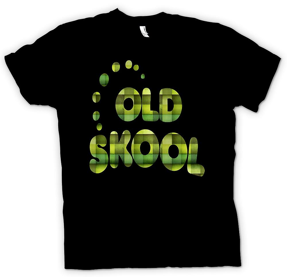 Heren T-shirt-oude Skool Retro