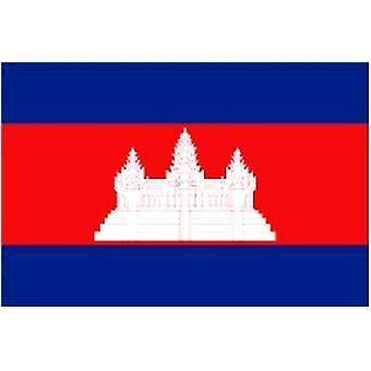 Cambodjanske Flag 5 ft x 3 ft med øjer til ophæng