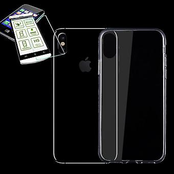 Silikoncase transparent + 0.3 H9 tempered glass for Apple iPhone XS / X 10 5.8 inch bag shell new