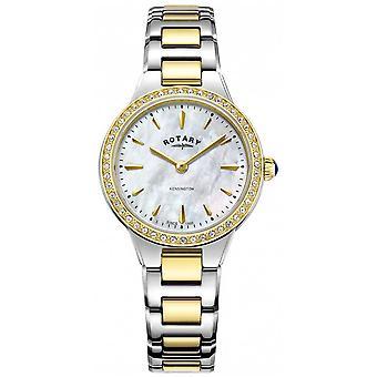 Rotary   Women's   Kensington   Two tone Bracelet   Crystal Set   LB05276/41 Watch