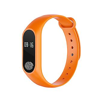 M2 Fitness bracelet with heart rate monitor-Orange