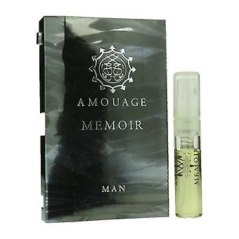 Amouage 'Memoir' Eau De Parfum Spary For Man 0.05oz Carded Vial(OriginalFormula)