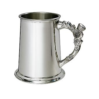 Thistle Handle Pewter Tankard - 1 pint