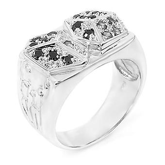 Sterling 925 Silver pave ring - DICES