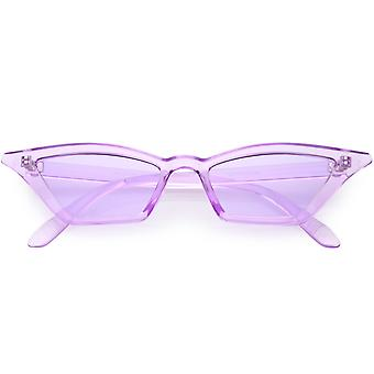 Translucent Retro Cat Eye Sunglasses For Women Color Tinted Lens 50mm