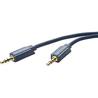 clicktronic Jack Audio/phono Cable [1x Jack plug 3.5 mm - 1x Jack plug 3.5 mm] 1.50 m Blue gold plated connectors