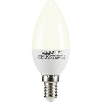 Sygonix LED EEC A+ (A++ - E) E14 Candle 3 W = 25 W Warm white (Ø x L) 37.50 mm x 99 mm 1 pc(s)