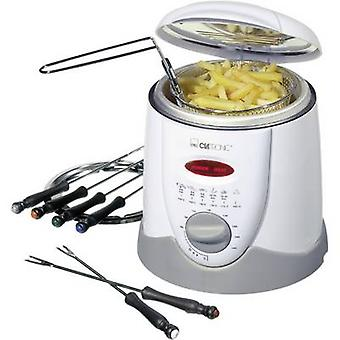 Fondue deep fryer 840 W with manual temperature settings Clatronic FFR 2916 White, Grey