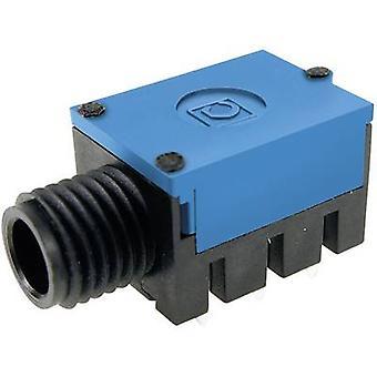 Cliff FC67815 6.35 mm audio jack Socket, horizontal mount Number of pins: 2 Mono Black 1 pc(s)