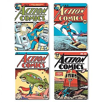 Superman Set Of 4 Cork Backed Drinks Coasters