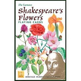 Shakespeares blomster sæt med 52 spillekort (+ jokere)