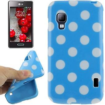 Schutzhülle TPU Punkte Case für Handy LG Optimus L5 II / E455